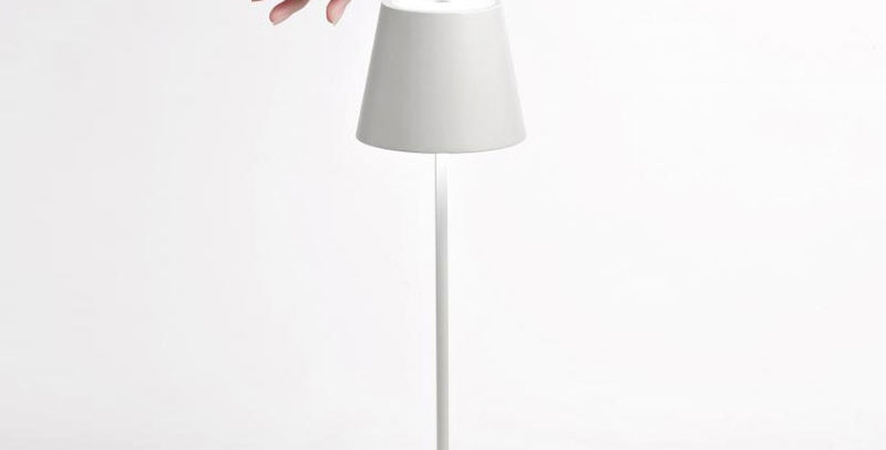 Lampe à Led rechargeable Poldina mini pro blanche