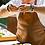 Thumbnail: tablier ofyr cuir marron