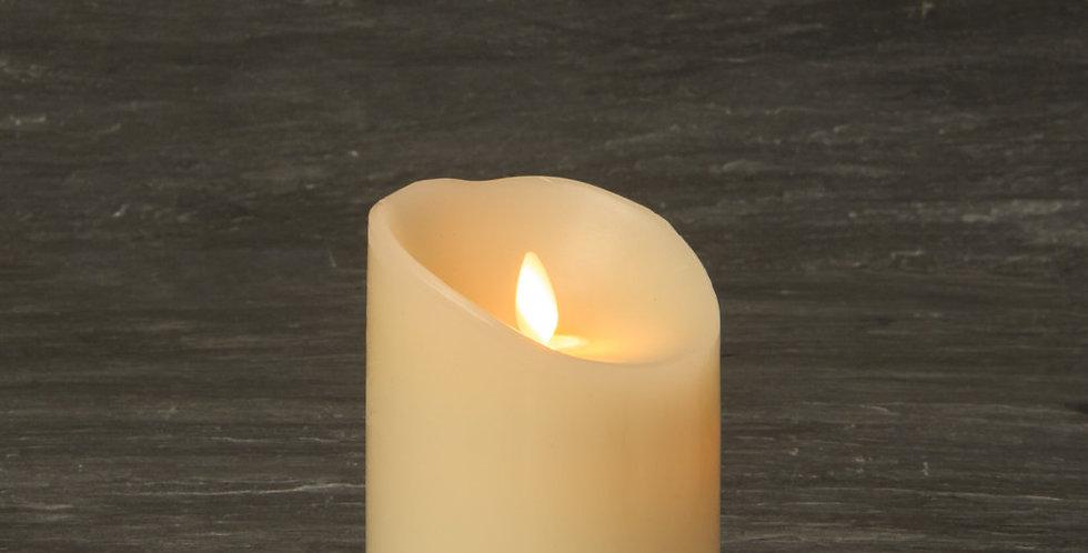 Bougie LED  en cire Ivoire 9 x 13 cm ivoire
