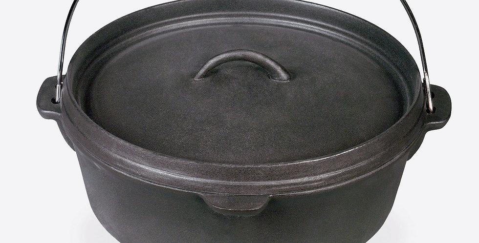 Barbecook Cocotte Acier 9 L Noire, 32 cm