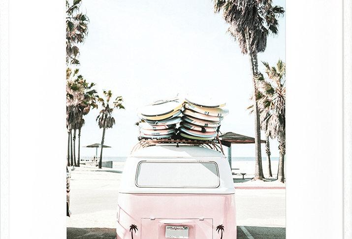 """Tableau affiche """" Van & surfers"""""""