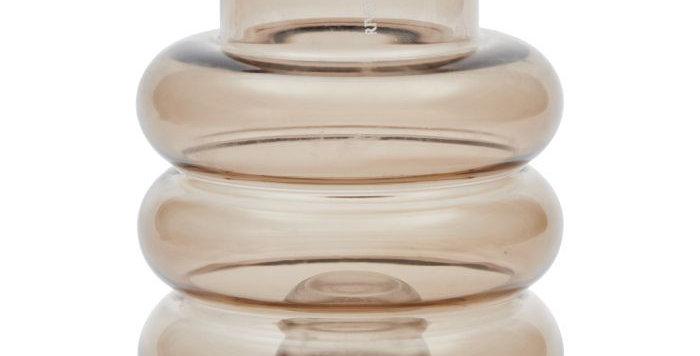 Vase à bougeoirs multiples marron
