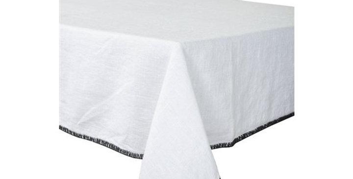 Serviette de table  Letia 41 x 41 cm blanc