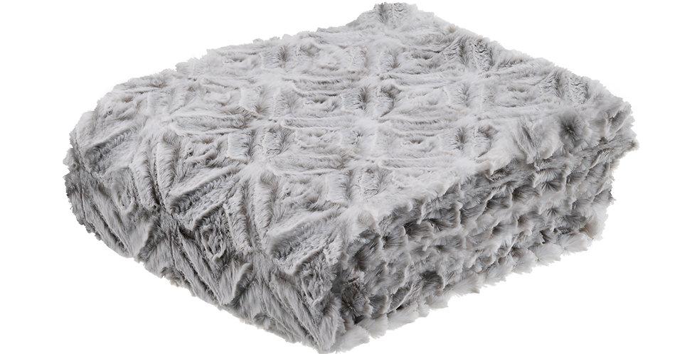 Couverture de lit façon fourrure Rosaces