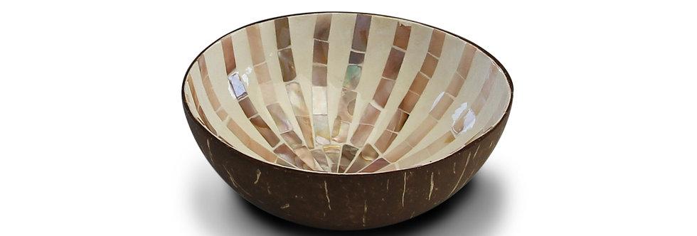 "Bol en noix de coco Noya  ""Brown mosaic star"""