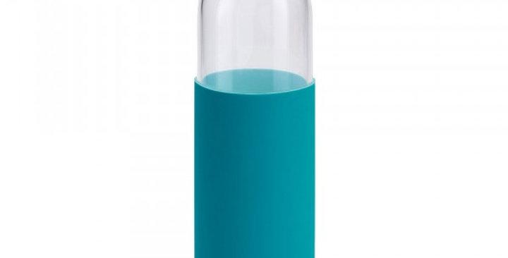 Gourde en verre borosilicate Vert Pétrole