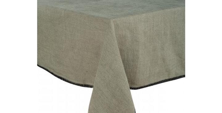 Chemin de table  Letia 50 x 145 cm kaki