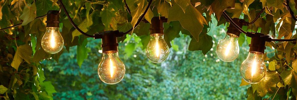 Rallonge guirlande lumineuse guinguette extensible ampoules verres 10 LED