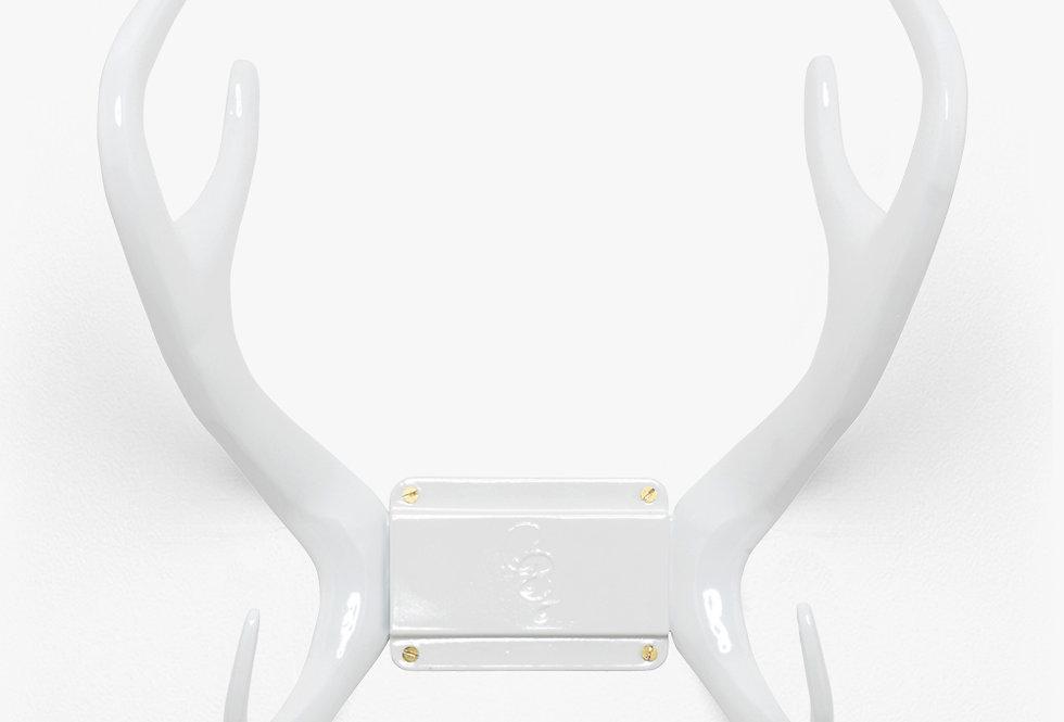 Porte tuyau renne blanc