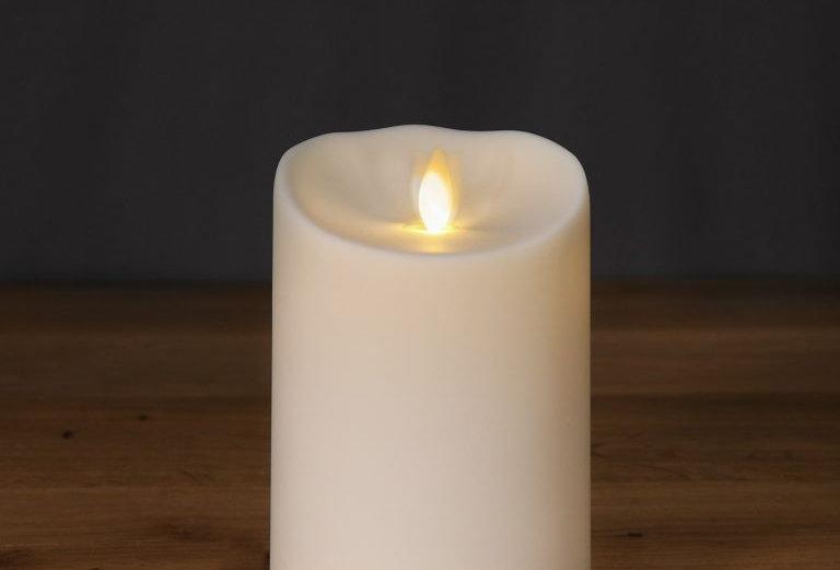 Bougie LED d'extérieur 9x13 cm ivoire