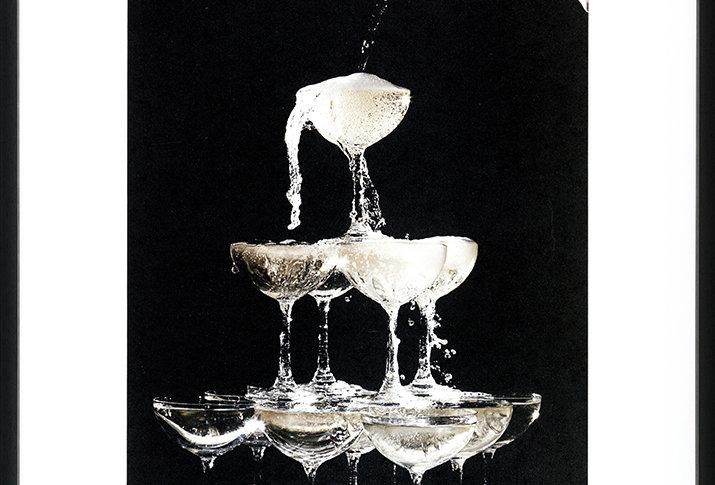 """Tableau affiche """" Fontaine de champagne """""""