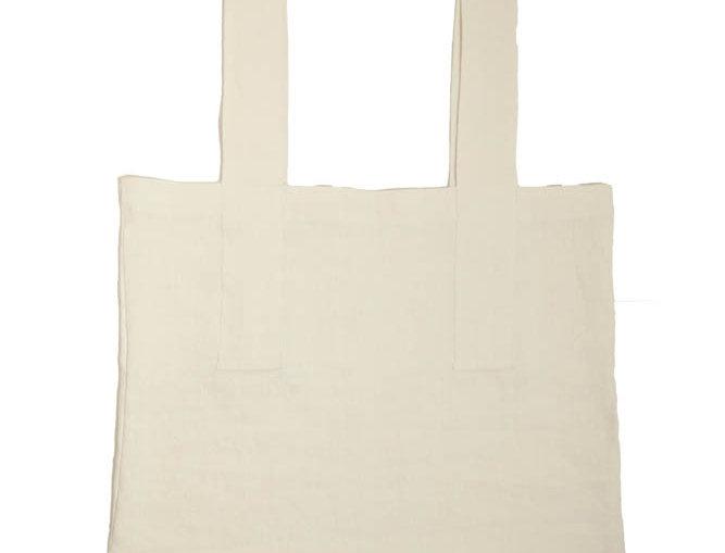 "Sac shopping ""Blanc"" 65 x 45 cm"