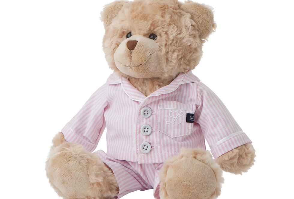 Copie de Lexington ours en peluche  Rose/Blanc  PJ