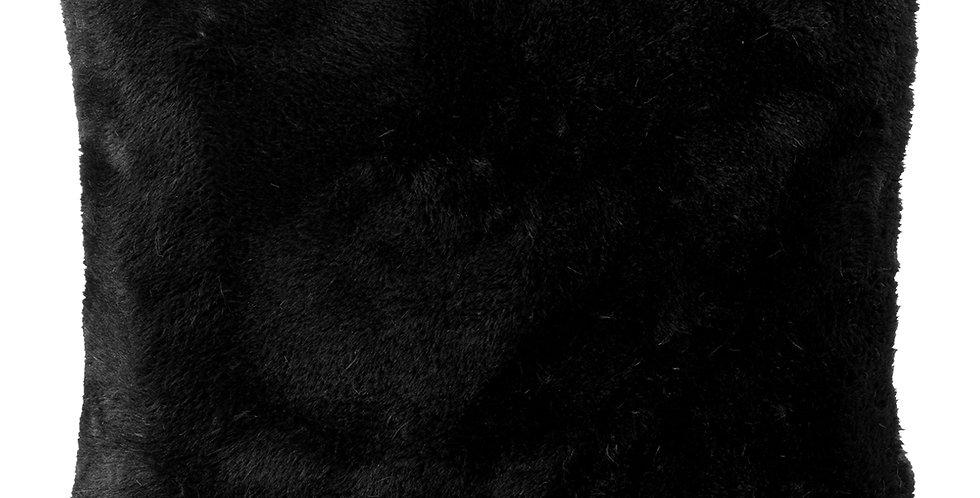 Maxi coussin fausse fourrure Lapin noir