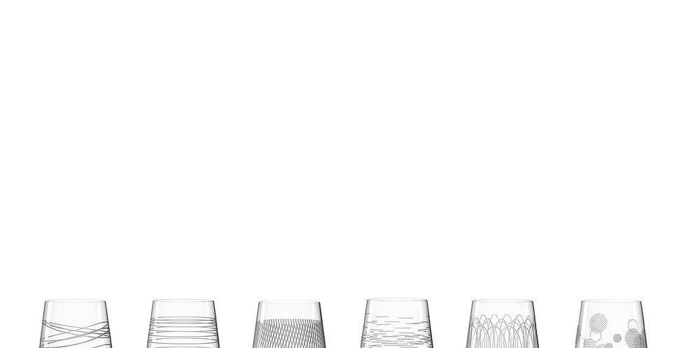 Coffret de 6 verres à vin rouge Casella 430 ml avec gravure