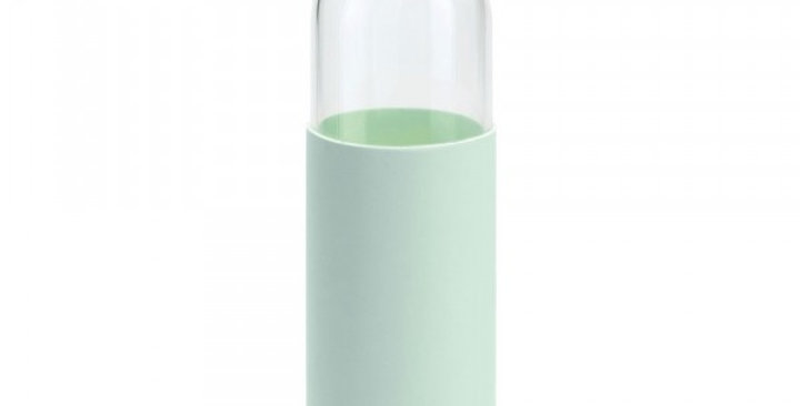 Gourde en verre borosilicate Vert Menthe