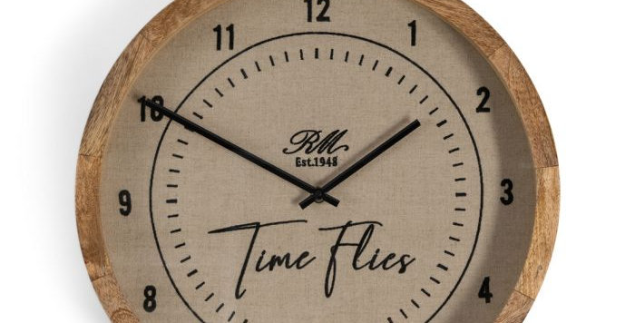 Horloge murale Time Flies