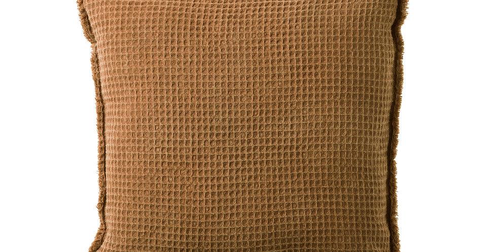 Coussin Maya Nid d'abeille Caramel