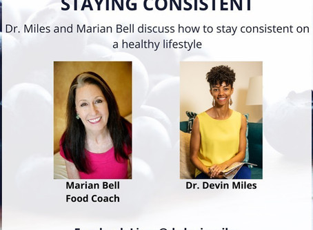 Event next Thursday on Staying Consistent