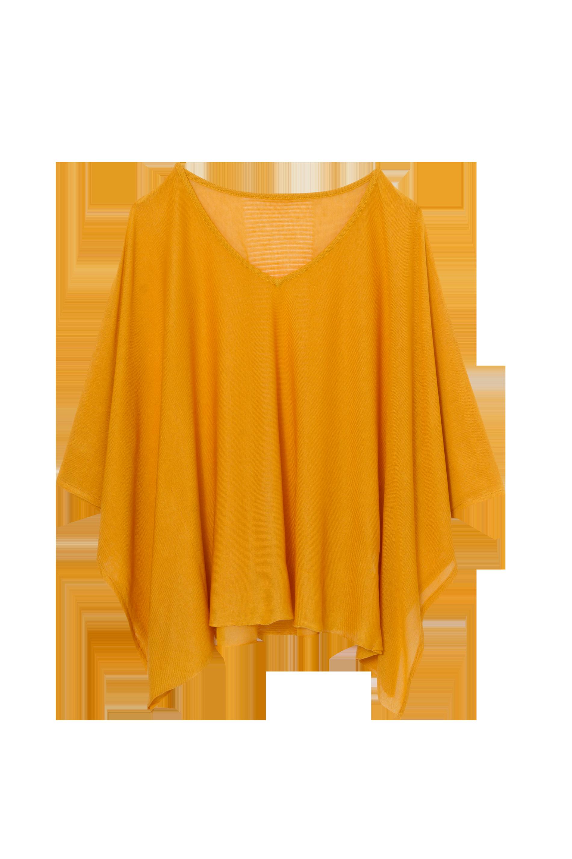 Kaftan Tricô Amarelo