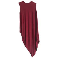 Vestido descolado para gravida_vinho