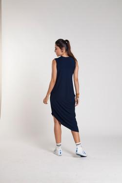 Vestido descolado para gravida_costas