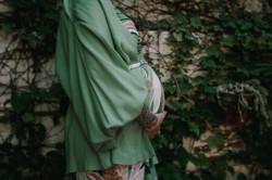 Kimono manga bufante menta: