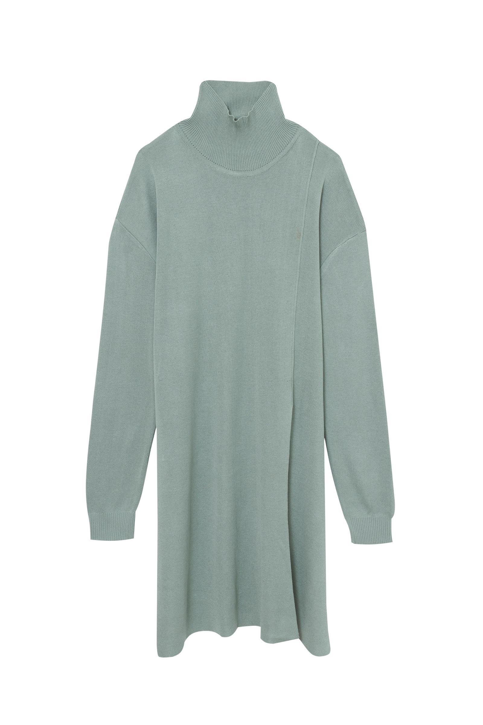 tricô verde água