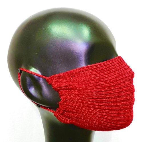 Máscara de tricô tomate