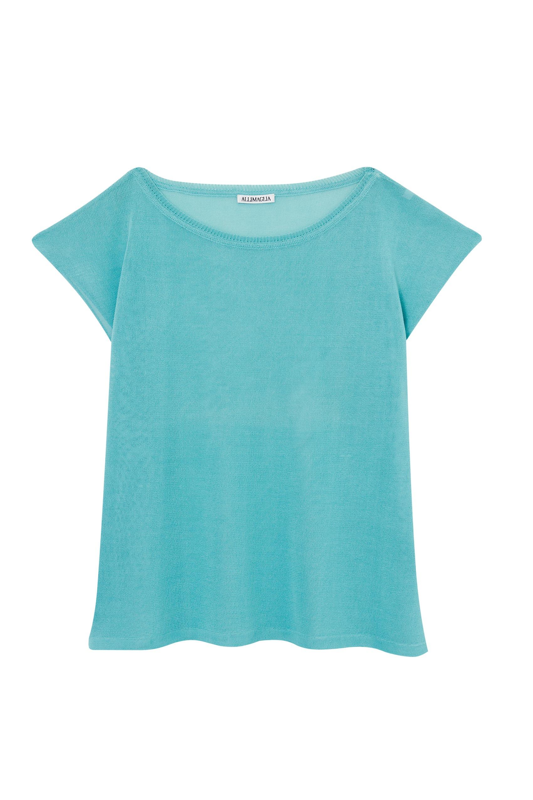 t-shirt tricô rayon azul