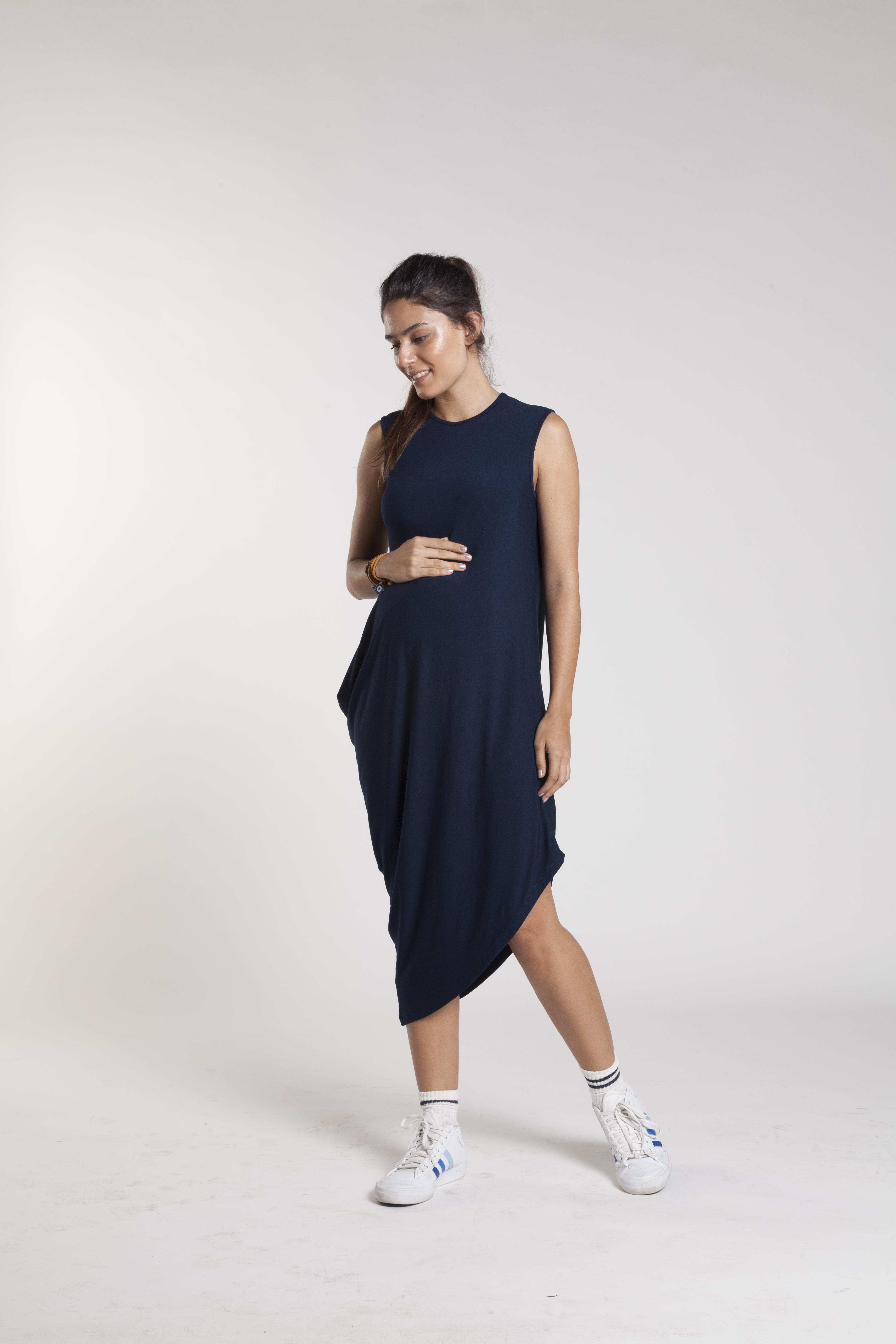 Vestido descolado para gravida