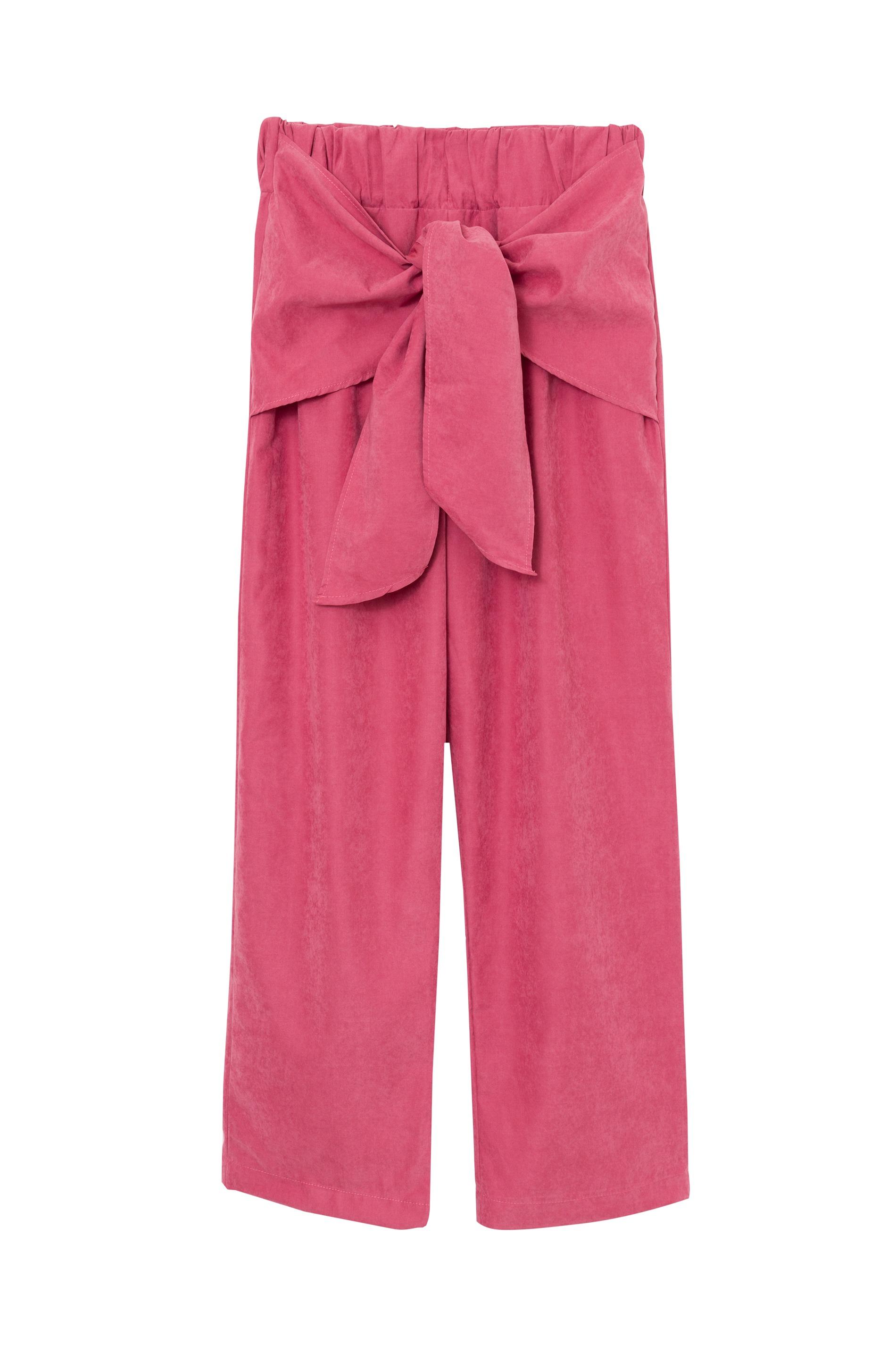 calça de elástico e amarração rosa_edite