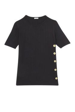 blusa tricô botões