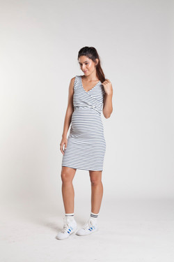 vestido listras navy branco