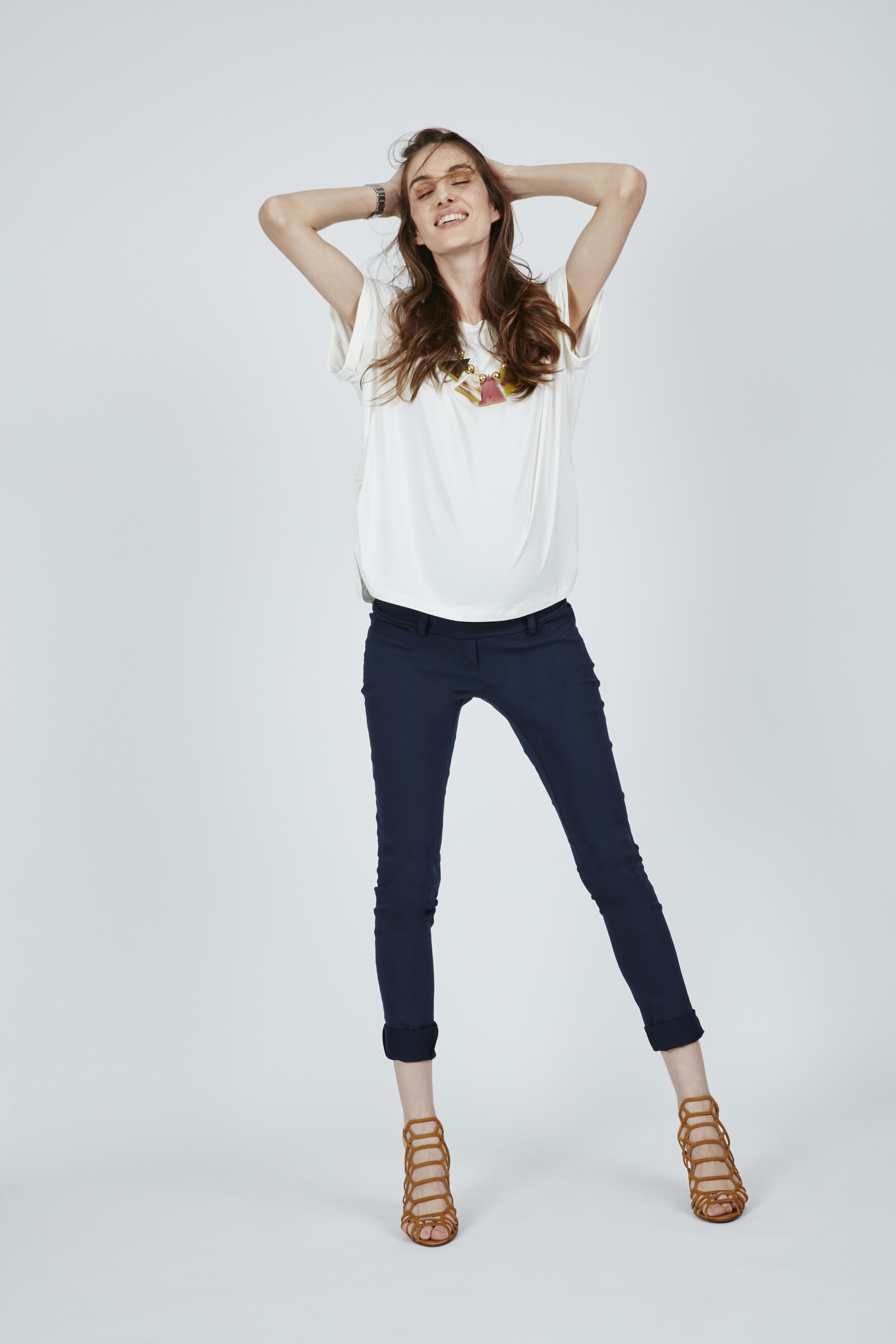 calça alfaiataria azul