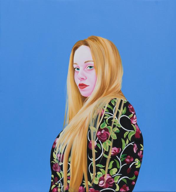 Léa 2015 Huile et acrylique sur toile /oil and acrylics on canvas  65x60 cm