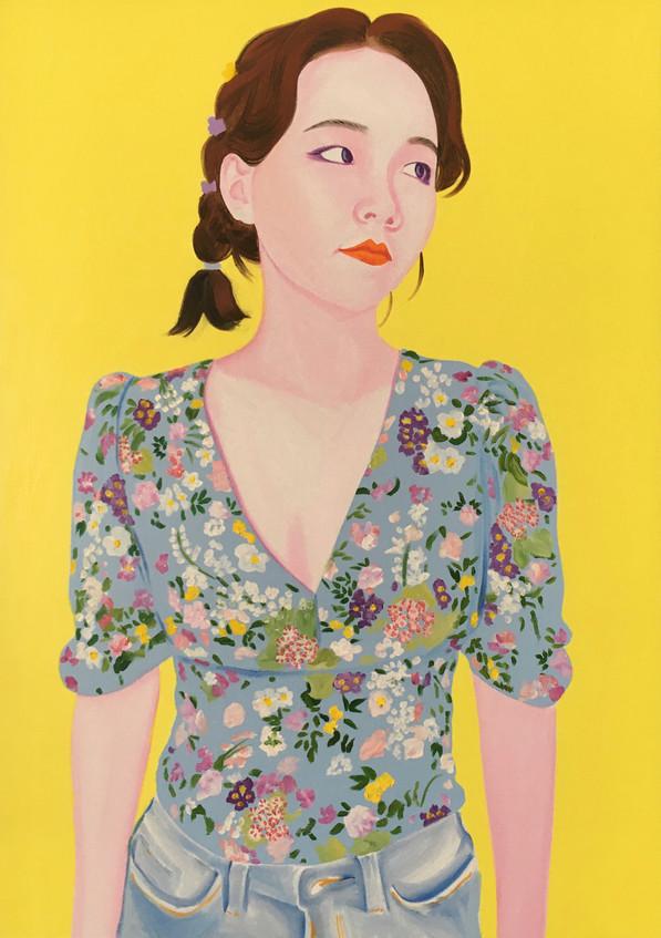 Ophélie 2020 Huile sur toile /oil on canvas 92 x 65 cm