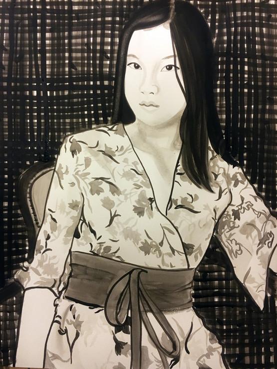 Gloria 2021 encre de Chine sur papier /Chinese ink on paper 65x50 cm