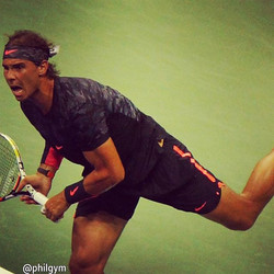 Nadal , US Open 2015 @philgym (Distance to object 100 meter) nice shot :))