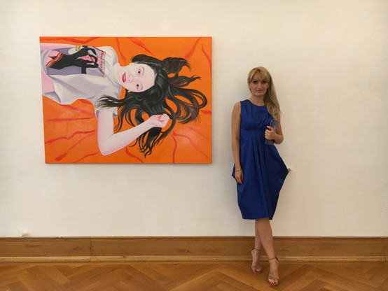 The curator of the exhibition: Oana Ionel