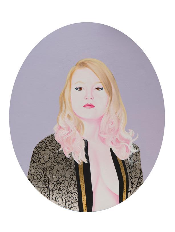 Natalia 2013 huile et feuille d'or sur toile /oil and gold leaf on canvas  60x50 cm