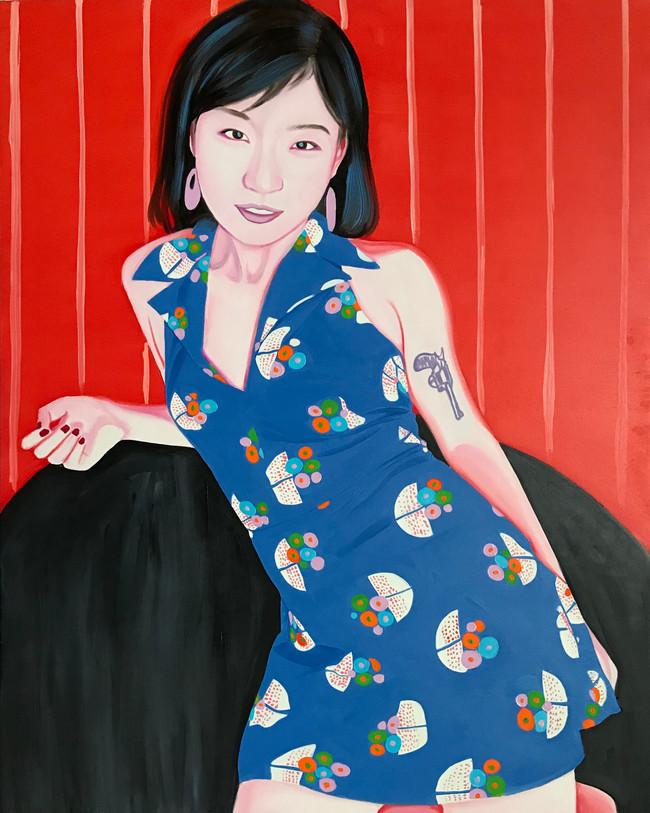 Mengzhu 2019 Huile sur toile /oil on canvas 100 x 80 cm