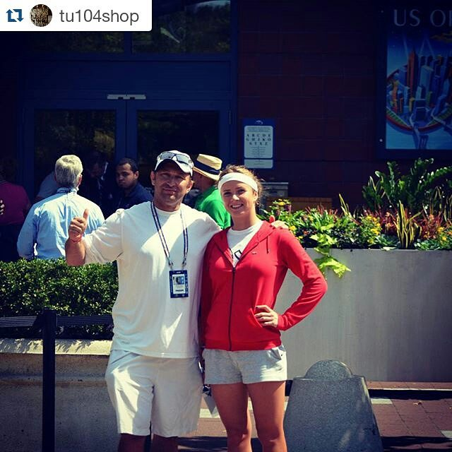 #Repost @tu104shop ・・・ US open With Elina Svitolina (top-15 WTA) my former student