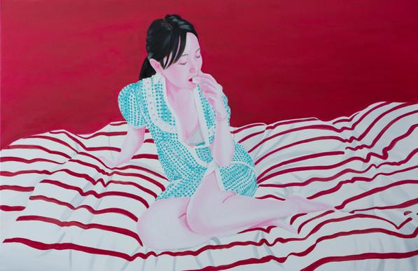 Macaron 2015 huile sur toile /oil on canvas 101x 154 cm