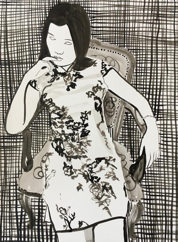 Sans titre encre de Chine / Chinese ink on paper 65x50 cm