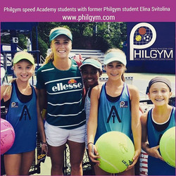 Philgym Speed Academy students with former Philgym student Elina Svitolina