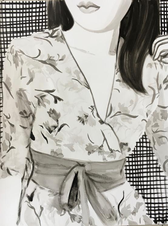 Dress 2021 encre de Chine sur papier /Chinese ink on paper 65x50 cm