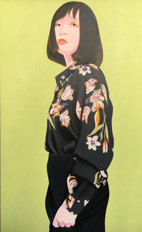 Modi 2020 Huile sur toile /oil on canvas 116 x 73 cm