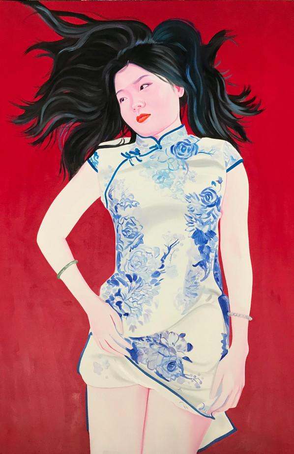 Gloria 2020 huile sur toile /oil on canvas 195x130 cm