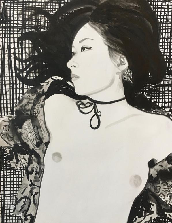 Sans titre encre de Chine sur papier /Chinese ink on paper 65x50 cm